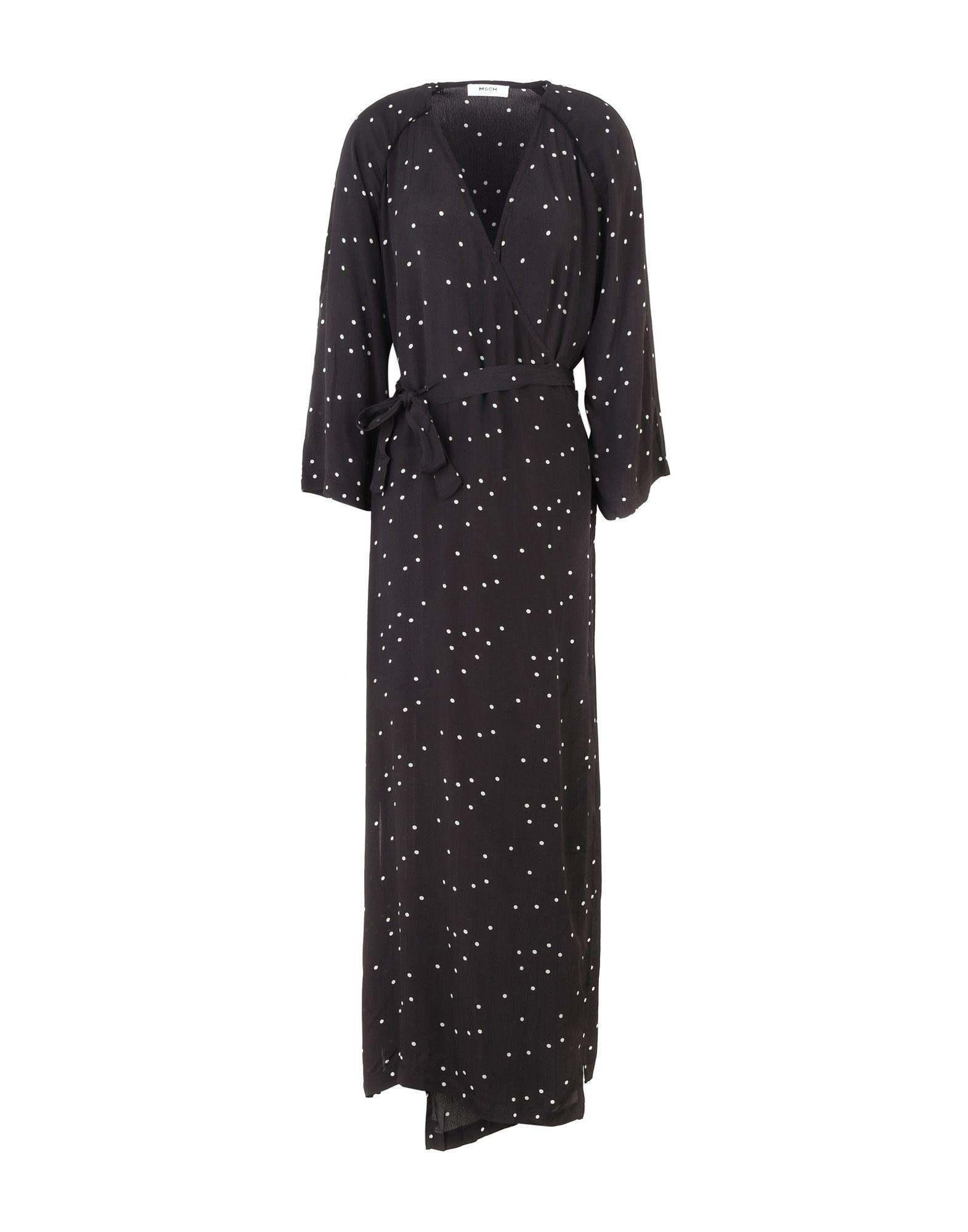 《送料無料》MOSS COPENHAGEN レディース ロングワンピース&ドレス ブラック XS レーヨン 100% Spirit Dress