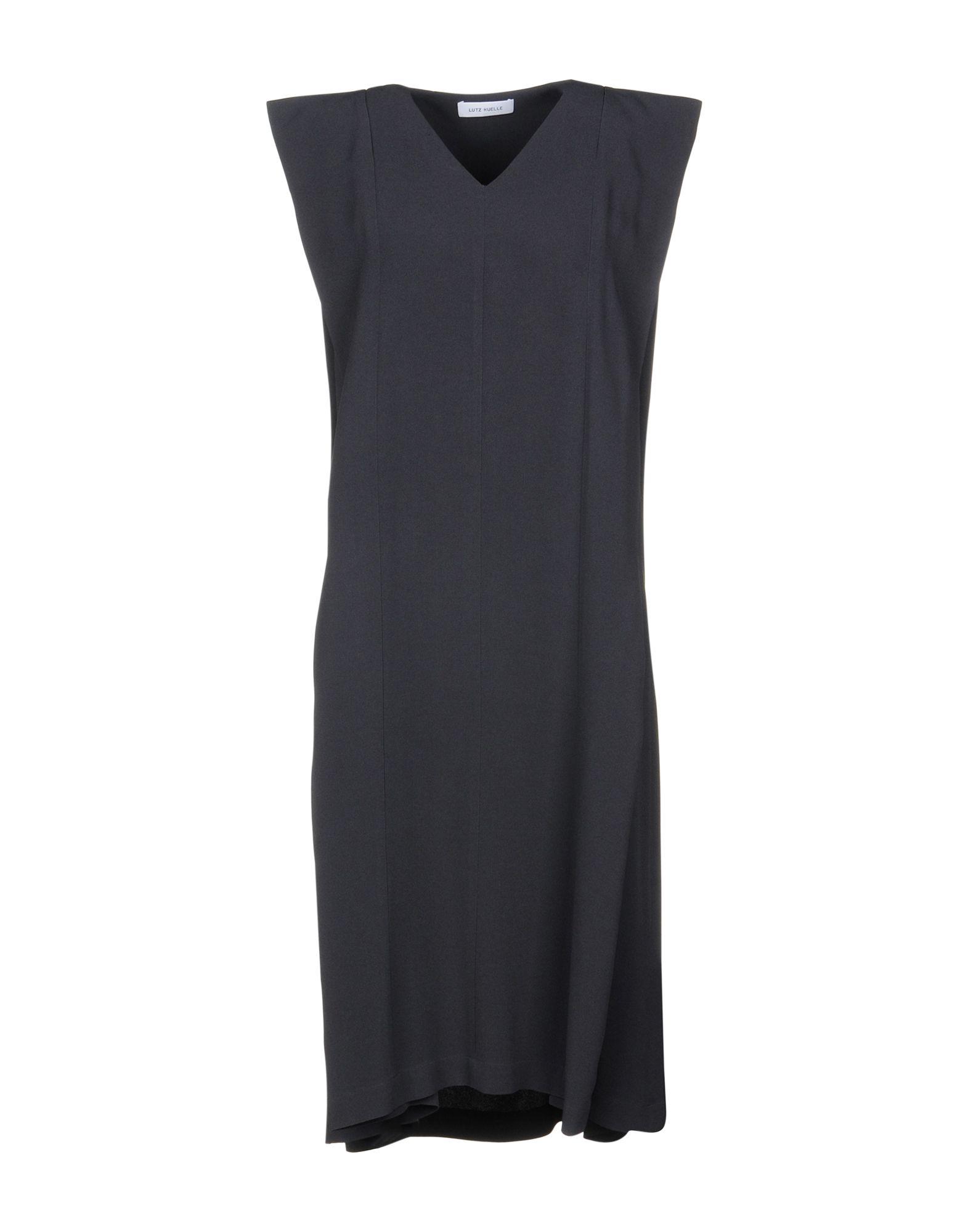 LUTZ HUELLE Knee-Length Dress in Lead