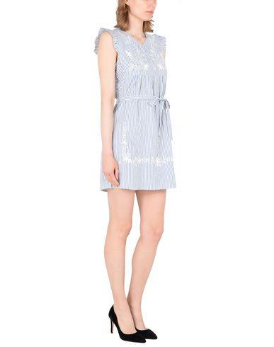Фото 2 - Женское короткое платье DESIGNERS SOCIETY небесно-голубого цвета