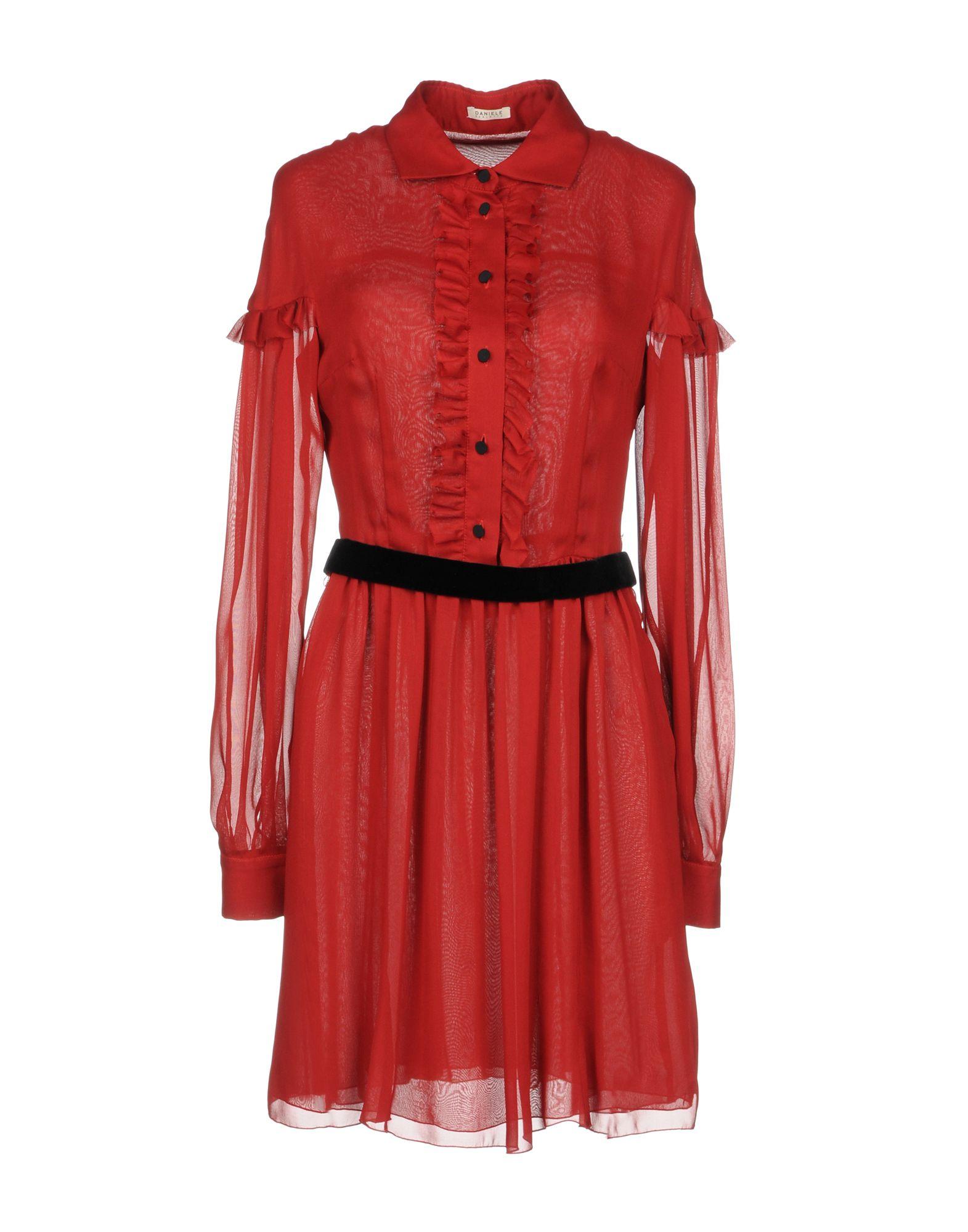 DANIELE CARLOTTA Shirt Dress in Red