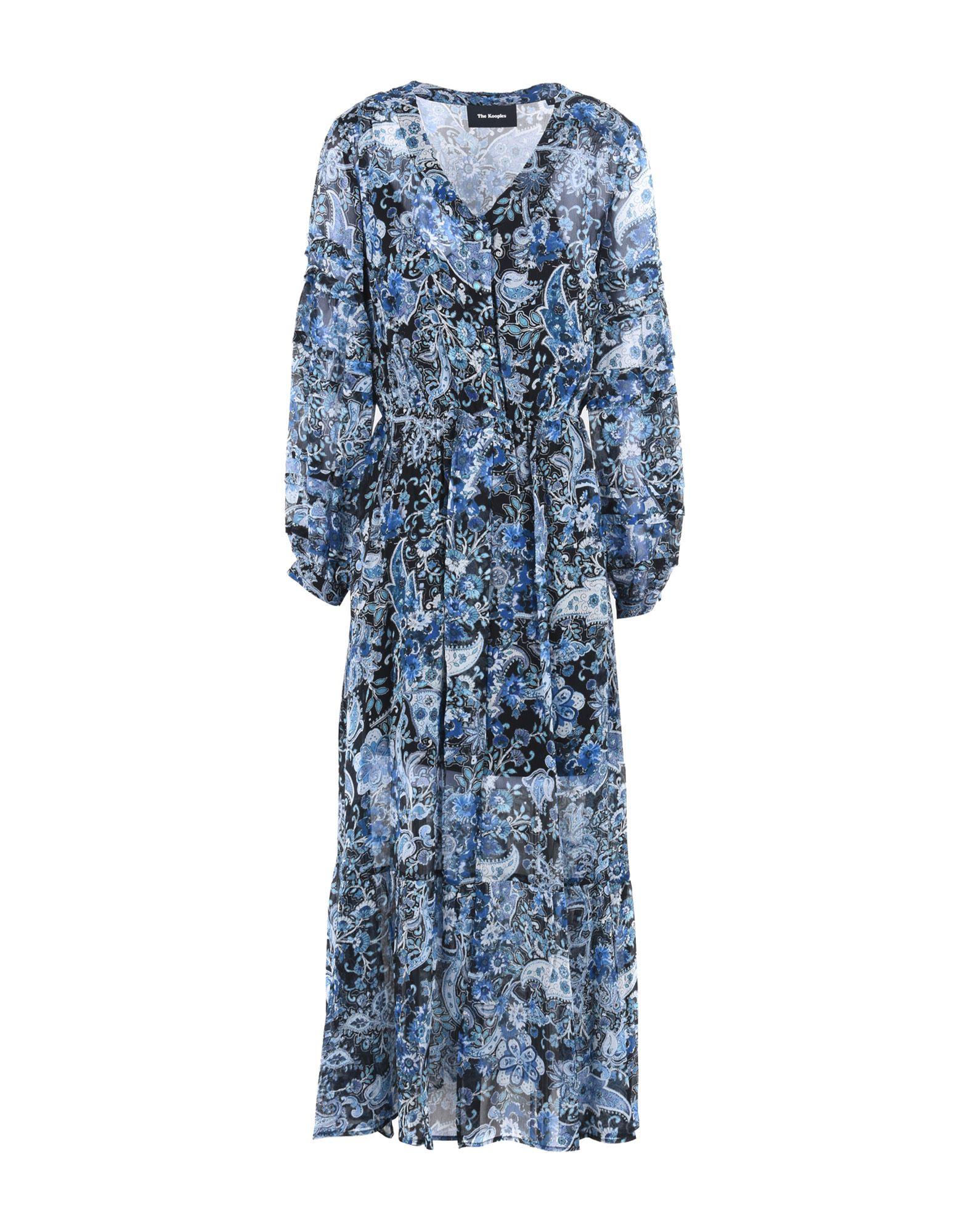 Paisley Silk Maxi Dress, Blue