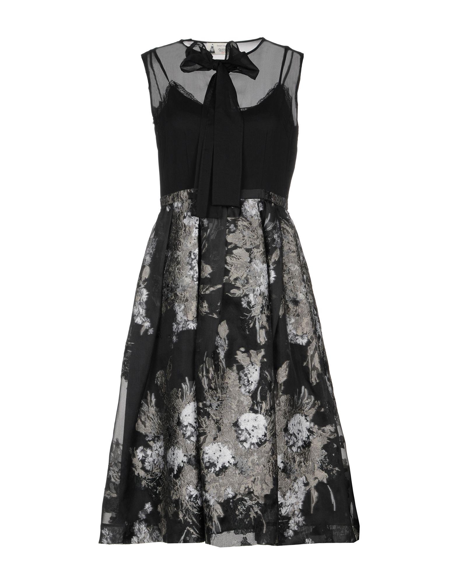 LEUR LOGETTE Knee-Length Dress in Black