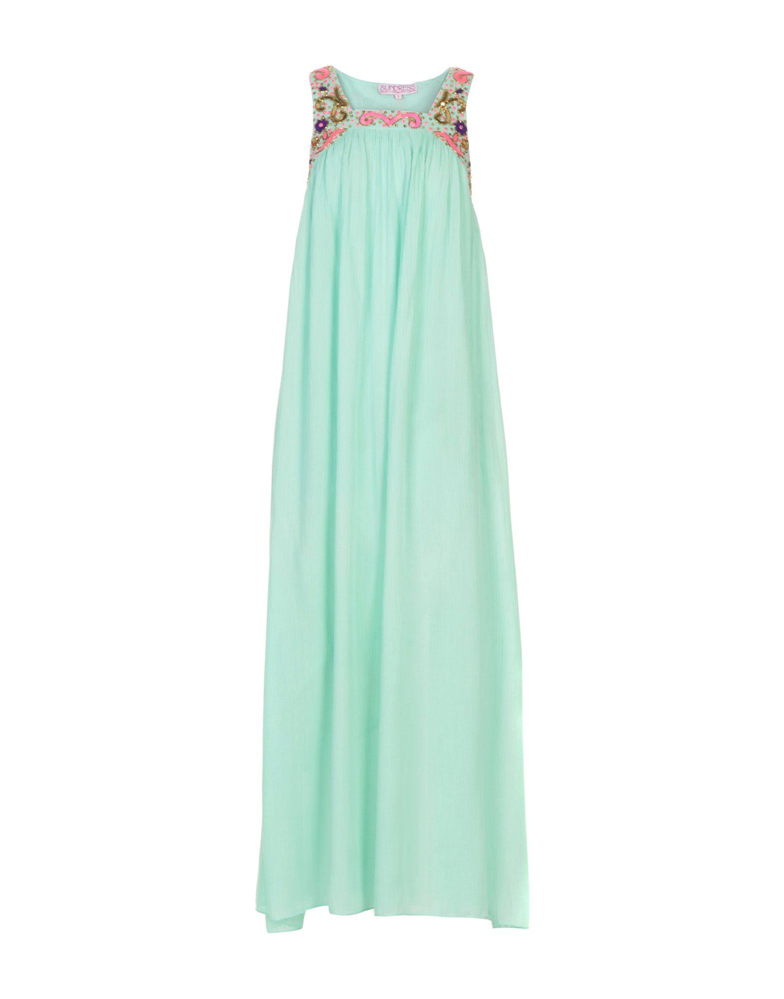 SUNDRESS Long Dress in Turquoise