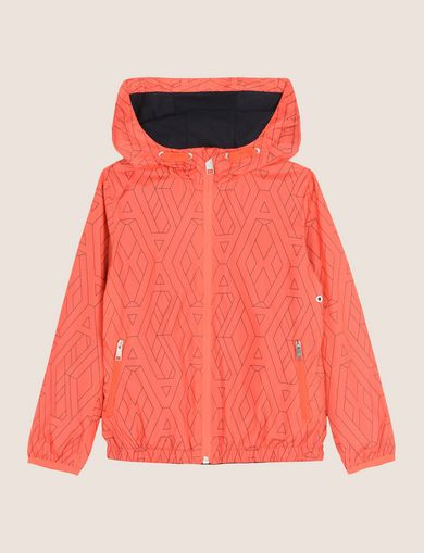 BOYS TESSELLATED LOGO WINDBREAKER