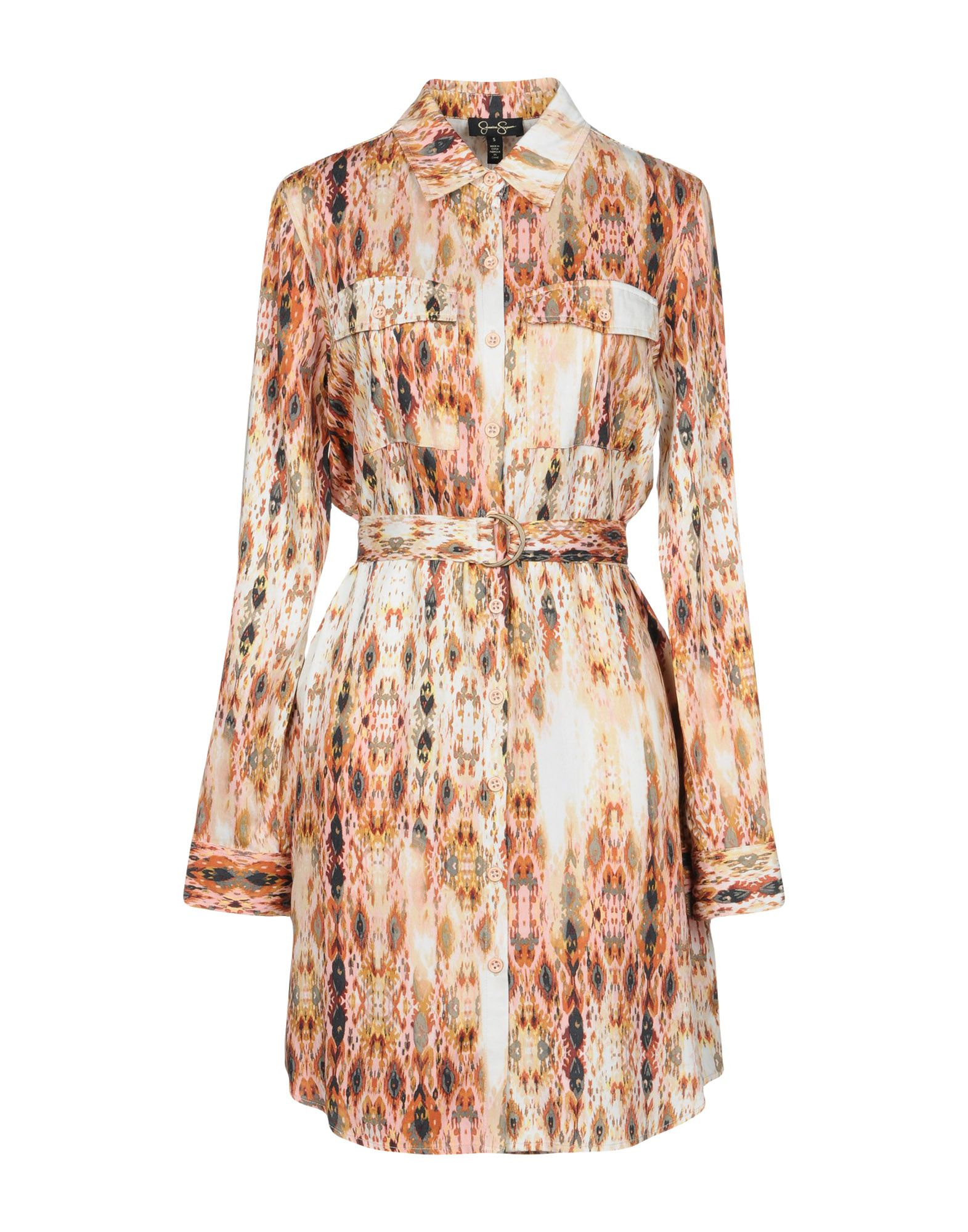 JESSICA SIMPSON Короткое платье jessica simpson new multi butterfly sleeve printed cover up tunic l $68 dbfl