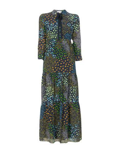 Фото - Женское длинное платье  темно-синего цвета