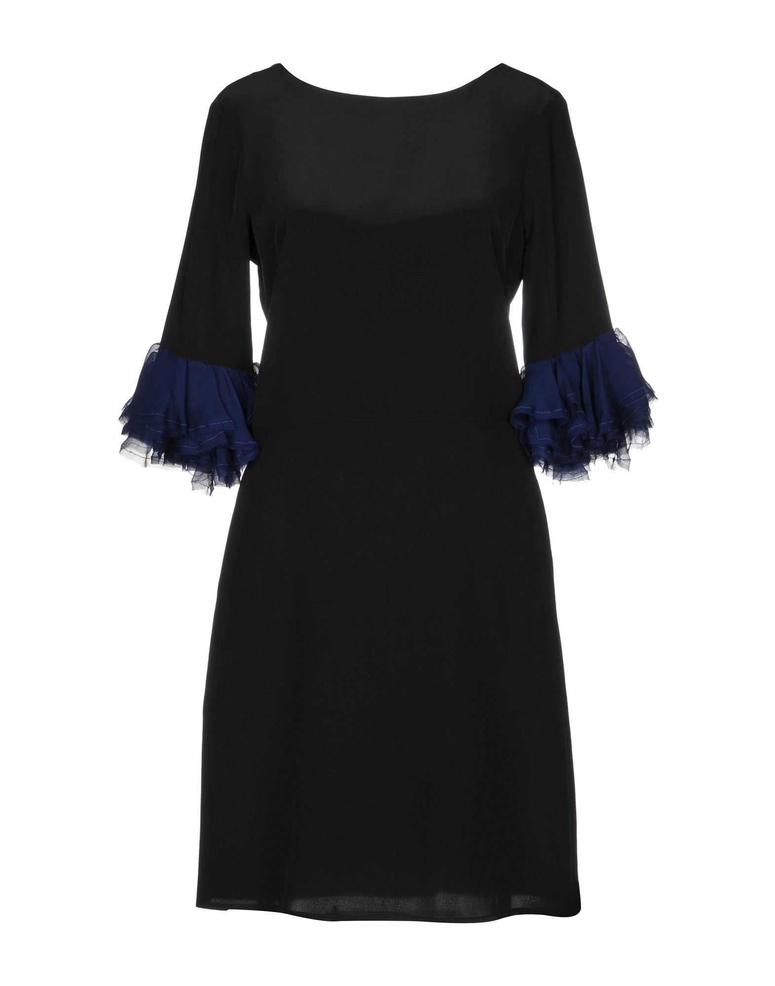 MOMONÍ Damen Kurzes Kleid Farbe Schwarz Größe 5