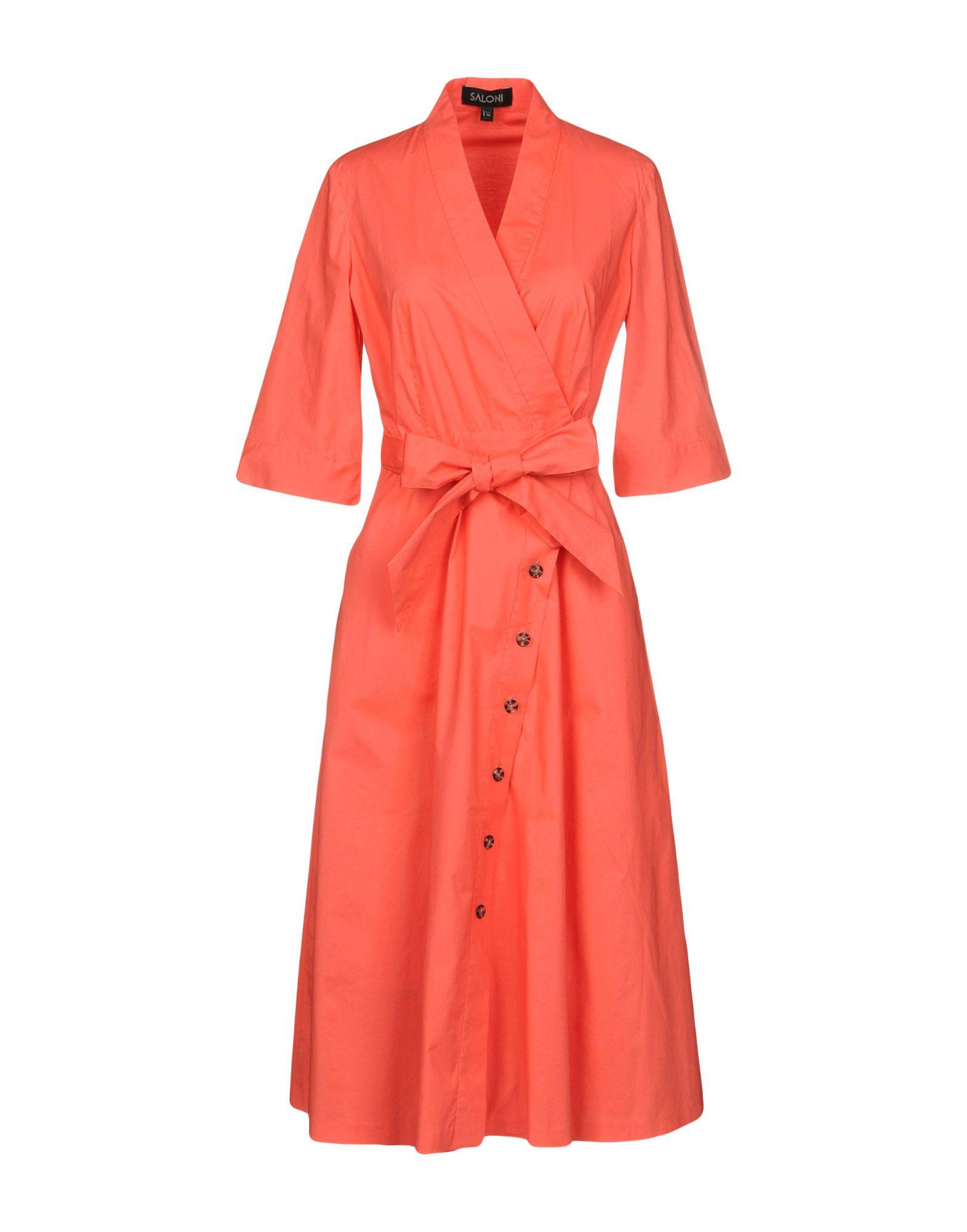 SALONI Платье длиной 3/4 saloni платье katie
