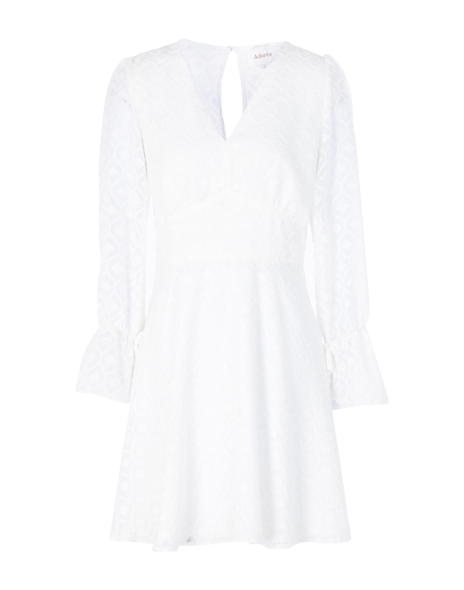 AdorÉE Short Dress In Ivory