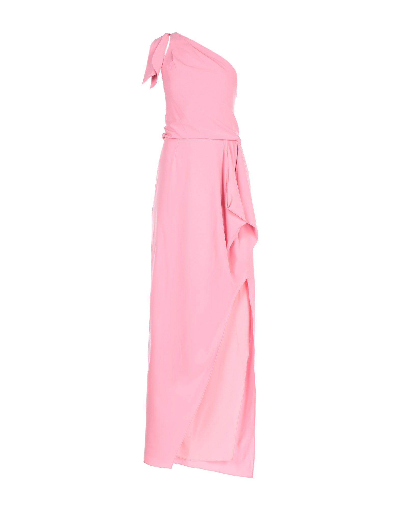 《期間限定セール中》HALSTON HERITAGE レディース ロングワンピース&ドレス ピンク 12 トリアセテート 60% / ポリエステル 40%