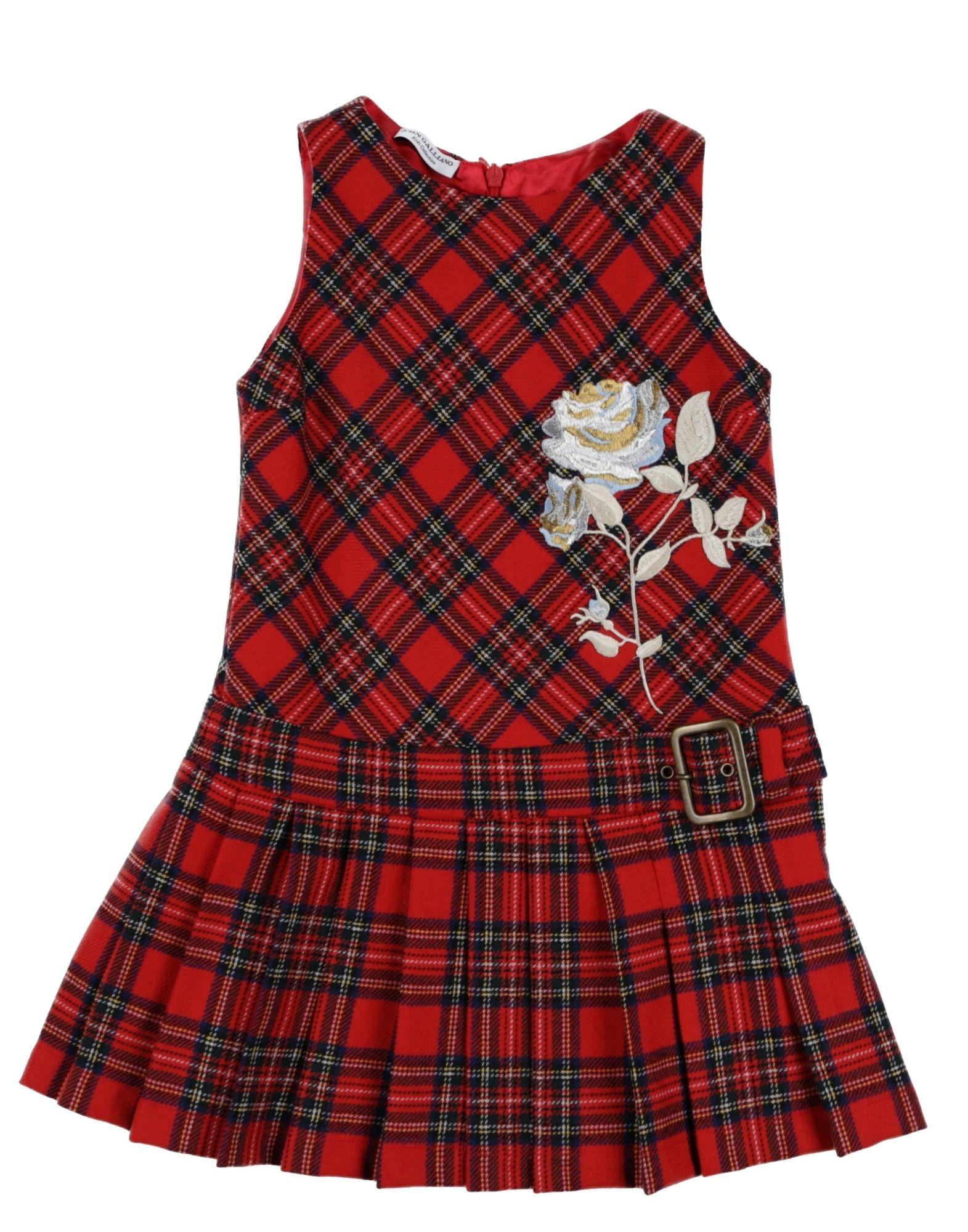 《送料無料》JOHN GALLIANO KIDS ガールズ 3-8 歳 ワンピース&ドレス レッド 4 ポリエステル 55% / ウール 45%