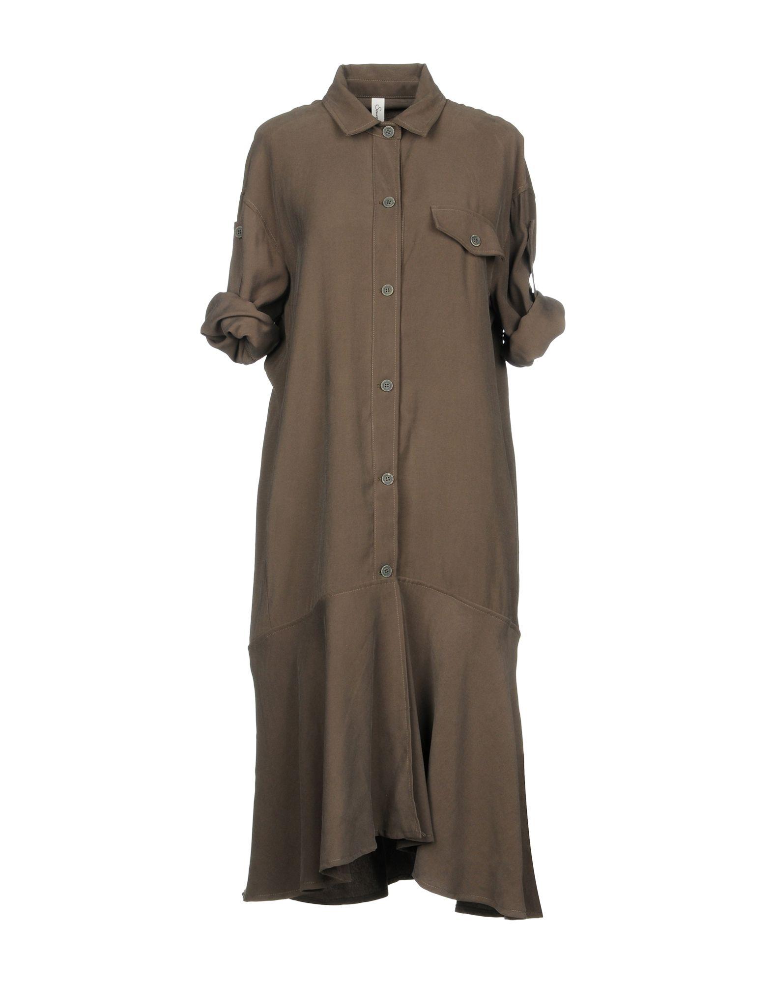SOUVENIR Платье до колена souvenir джинсовая рубашка