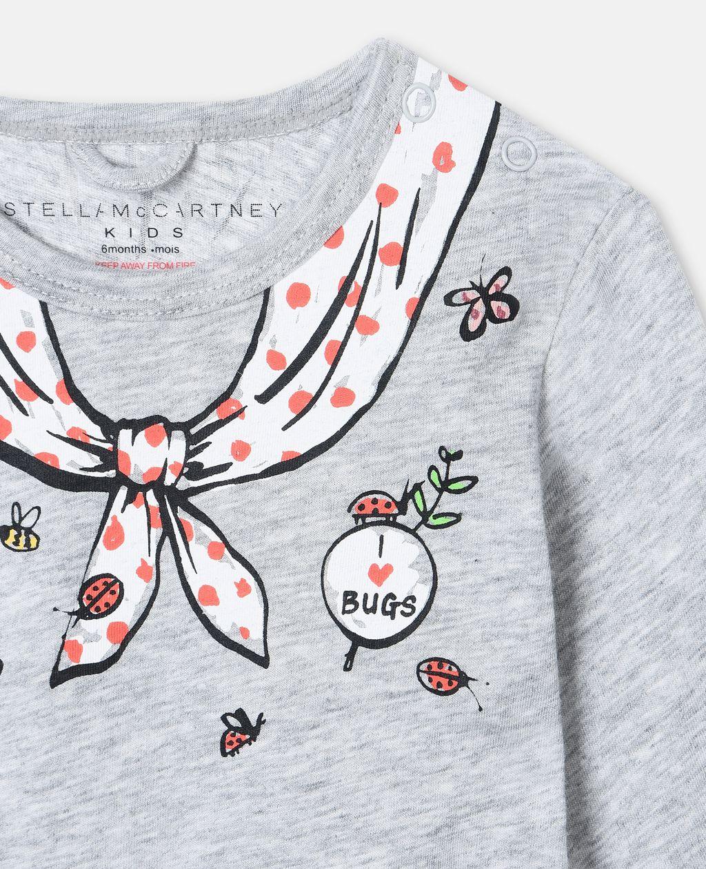 Stella McCartney - Grey Ladybug Babygrow - 3