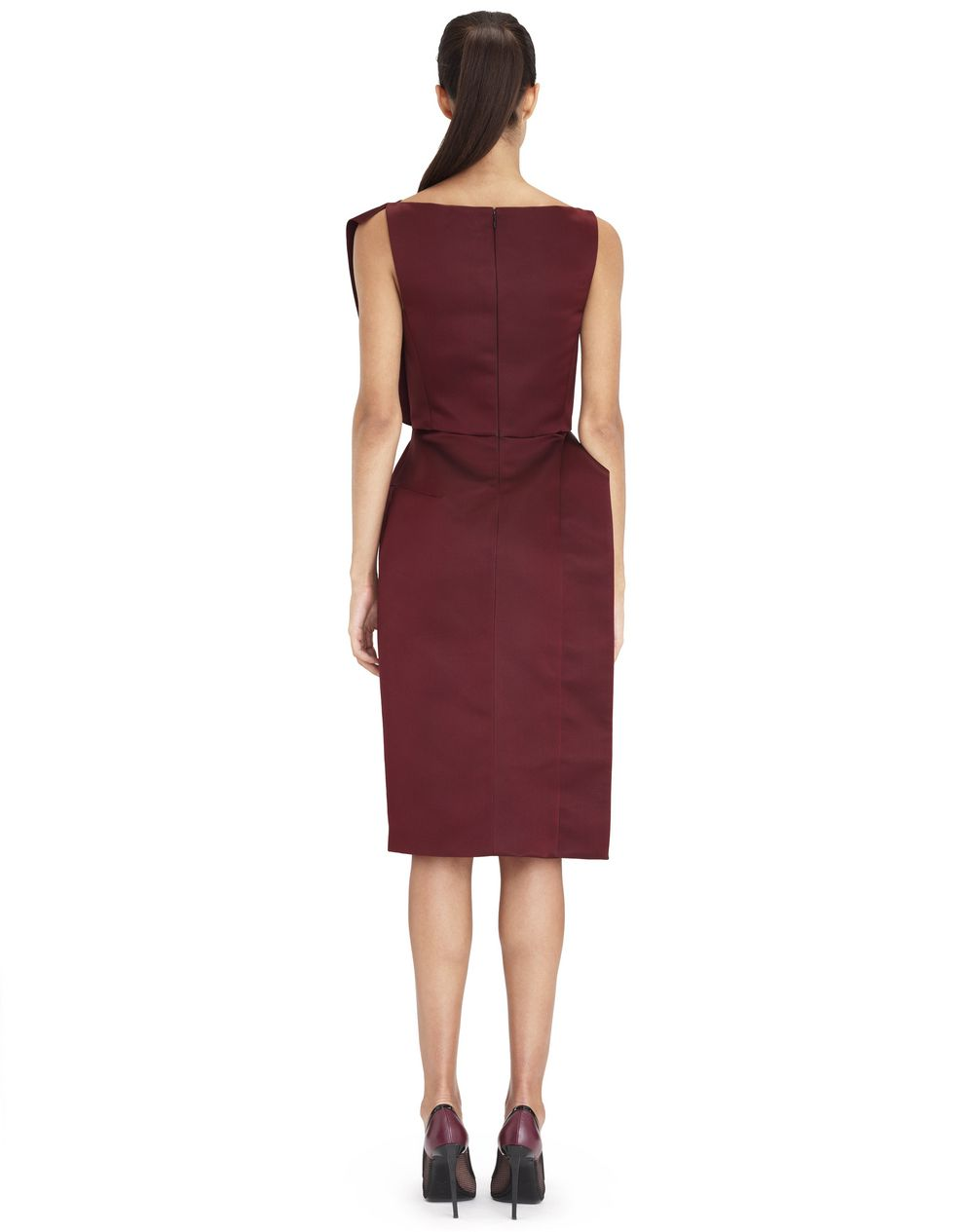 GARNET ASYMMETRICAL DRESS - Lanvin