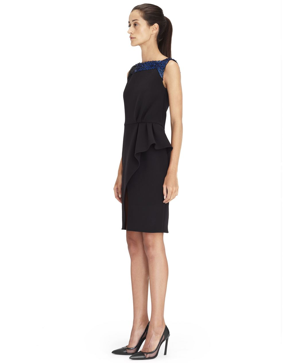 BLACK EMBROIDERED DRESS - Lanvin