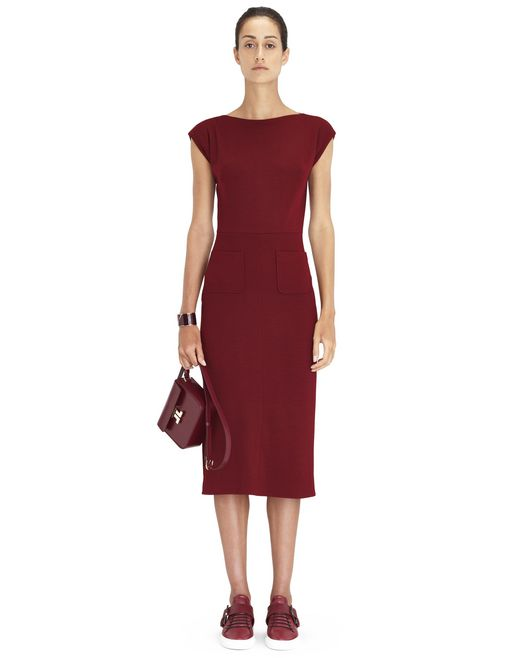 BURGUNDY JERSEY DRESS - Lanvin