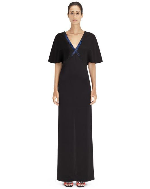 LONG EMBROIDERED DRESS - Lanvin