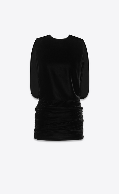 SAINT LAURENT Dresses Woman Dress in black velvet a_V4