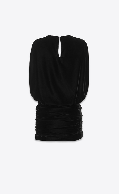 SAINT LAURENT Dresses Woman Draped dress in velvet b_V4