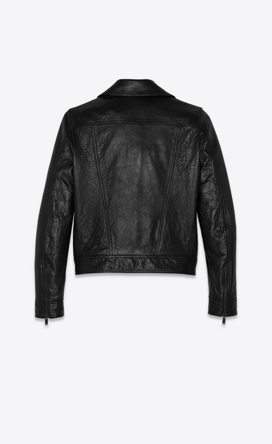 SAINT LAURENT Leather jacket Woman Biker jacket in black lambskin b_V4