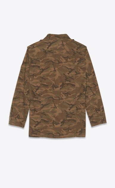 SAINT LAURENT Casual Jackets Woman Parka in camouflage print b_V4