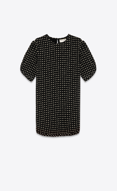 SAINT LAURENT Dresses Woman Dress with star print a_V4