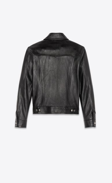 SAINT LAURENT Leather jacket Man lambskin denim jacket b_V4