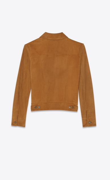 SAINT LAURENT Leather jacket Man suede denim jacket b_V4