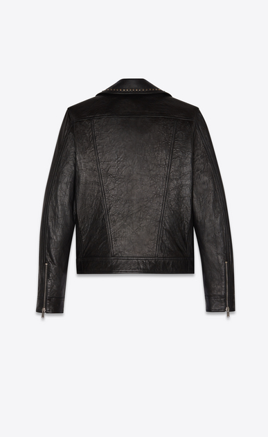 "SAINT LAURENT Leather jacket Man ""pins & studs"" motorcycle in lambskin b_V4"