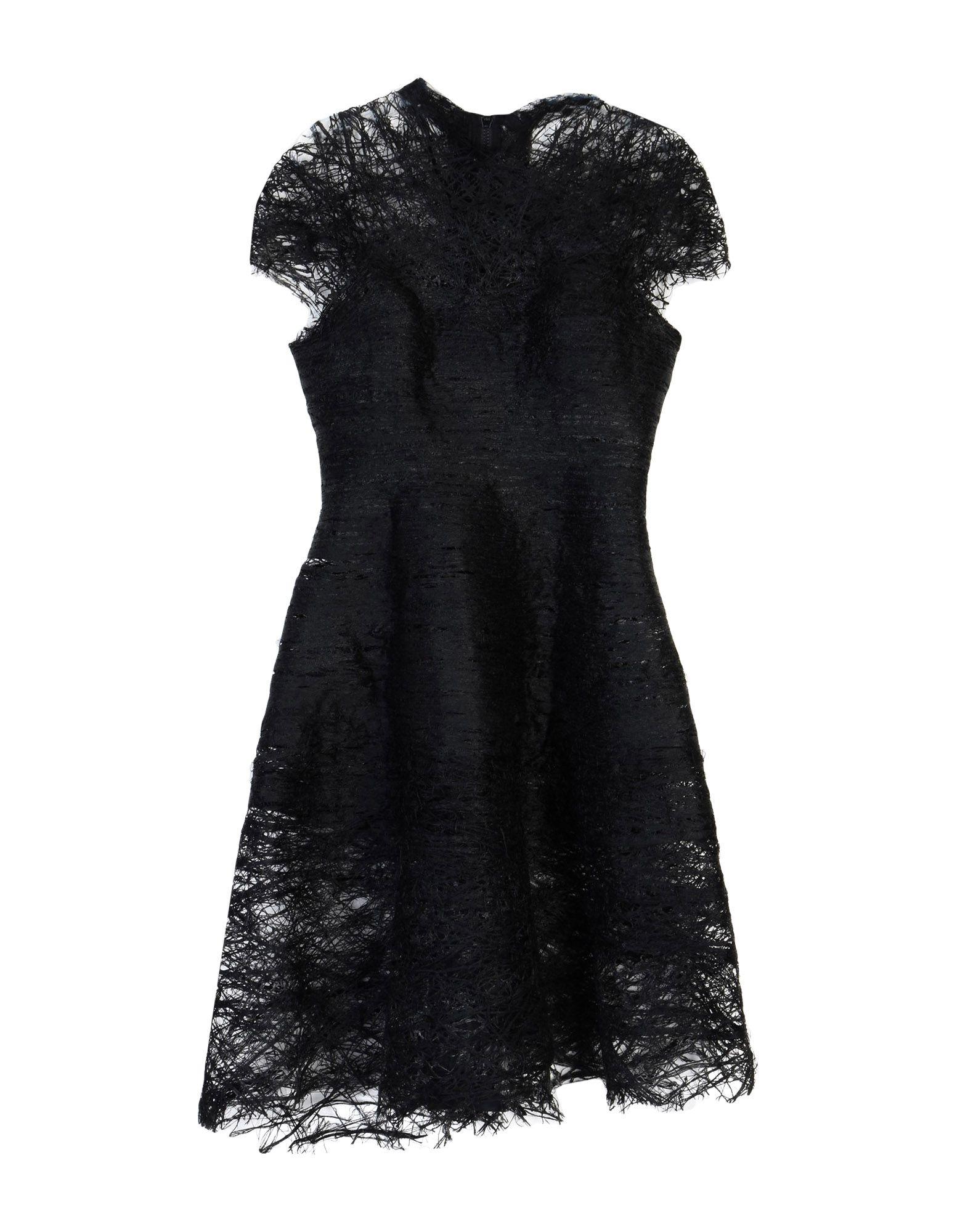 《セール開催中》MATTEO THIELA レディース ミニワンピース&ドレス ブラック M ウール 50% / レーヨン 50%