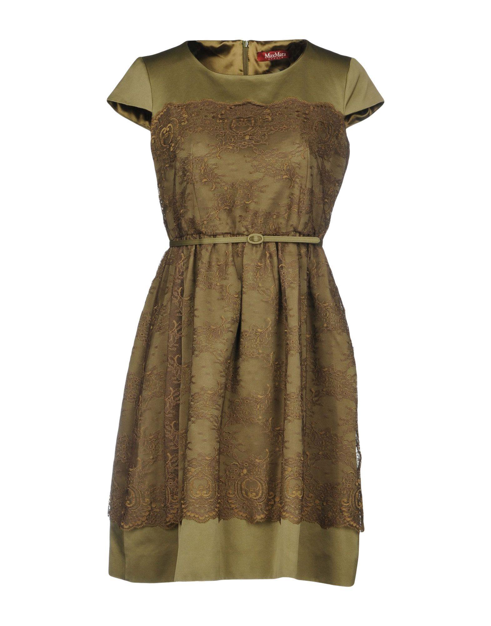 MAX MARA STUDIO Короткое платье комплект платьев полуприлегающее платье прилегающее платье max mara платья и сарафаны приталенные