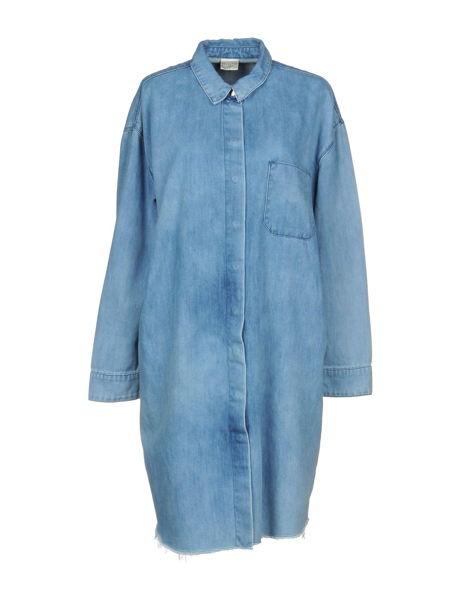 SELECTED FEMME Короткое платье рубашка женская selected femme цвет молочный 16052017 размер 40 46