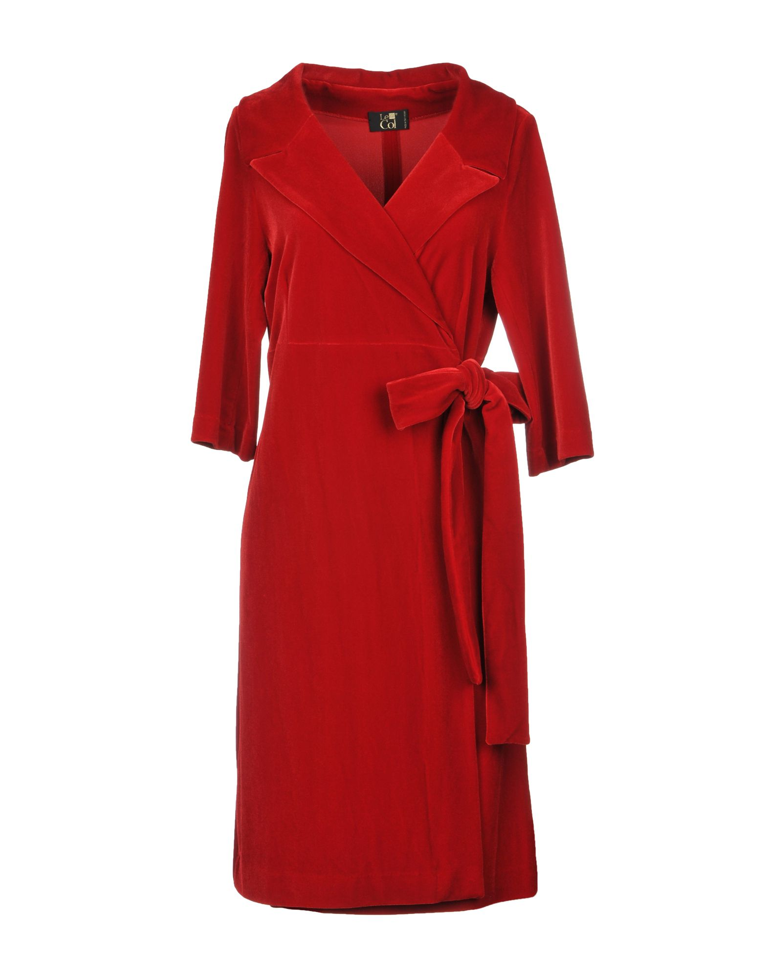 LE COL Short Dress in Red