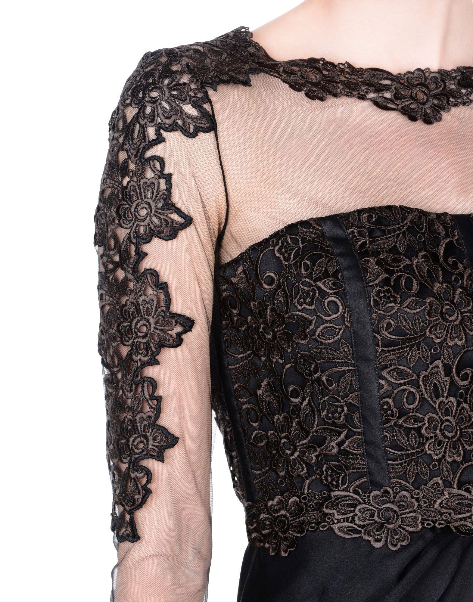 《送料無料》BLUMARINE レディース ミニワンピース&ドレス ブラック 42 シルク 100%