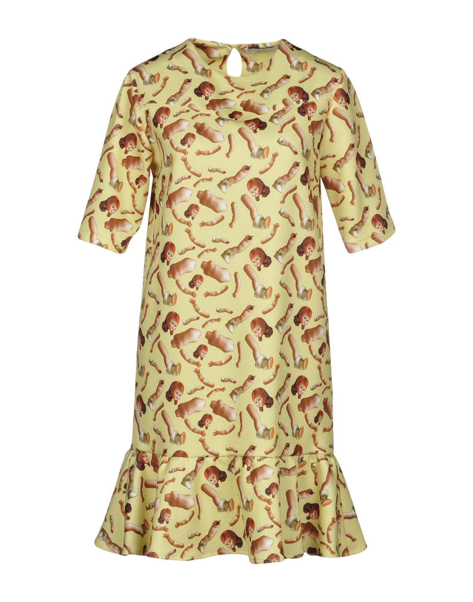 GIORGIA FIORE Short Dress in Yellow