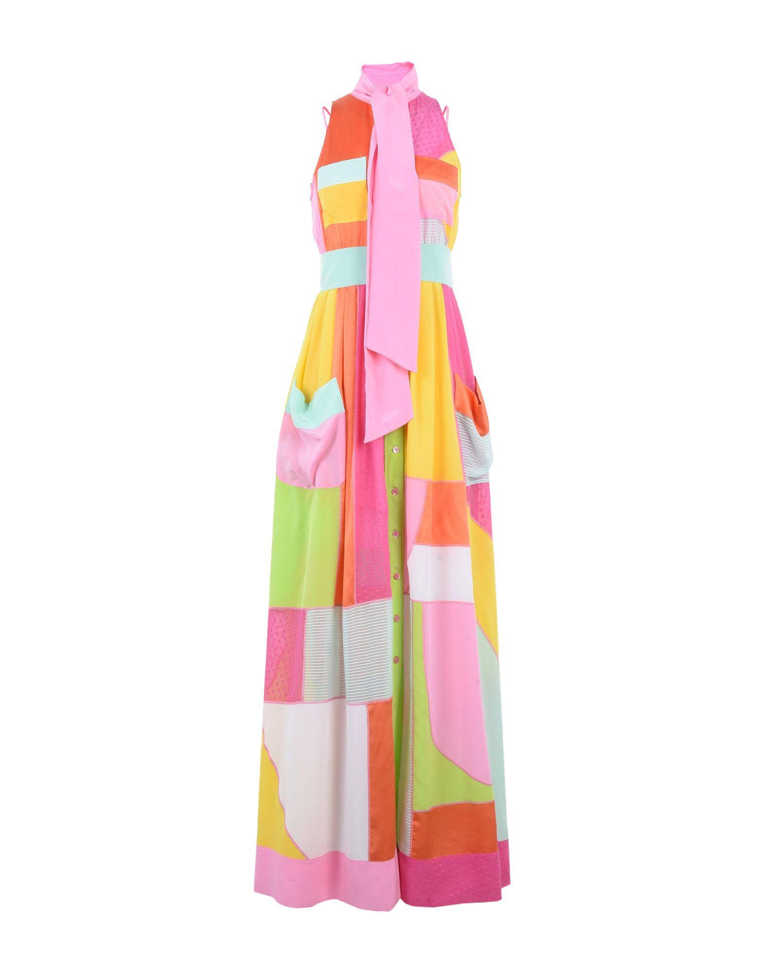 MOSCHINO Длинное платье платье рубашка fox yulia sway платье рубашка fox