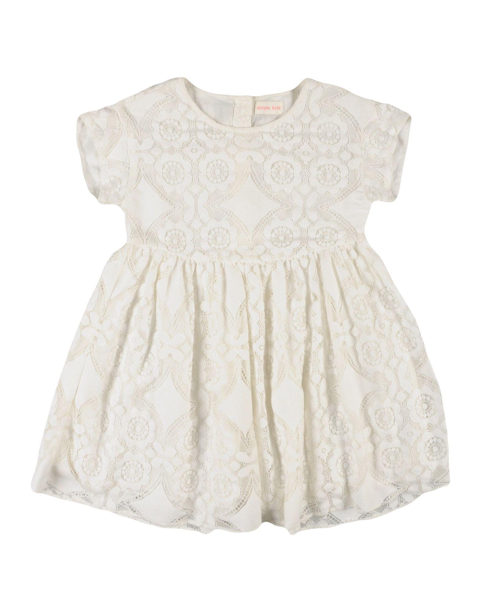 《送料無料》SIMPLE KIDS ガールズ 3-8 歳 ワンピース&ドレス アイボリー 8 コットン 72% / ナイロン 28%