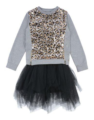 MISS GRANT Mädchen Kleid Hellgrau Größe 10 90% Baumwolle 10% Elastan Polyester