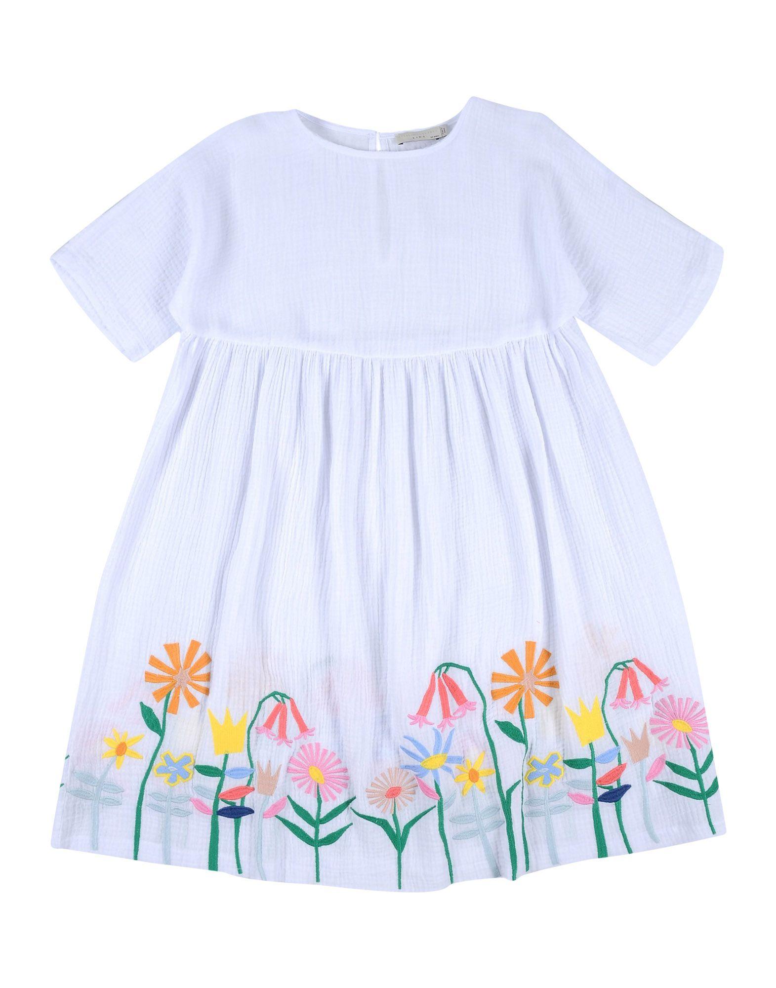 《送料無料》STELLA McCARTNEY KIDS ガールズ 9-16 歳 ワンピース&ドレス ホワイト 12 コットン 100%