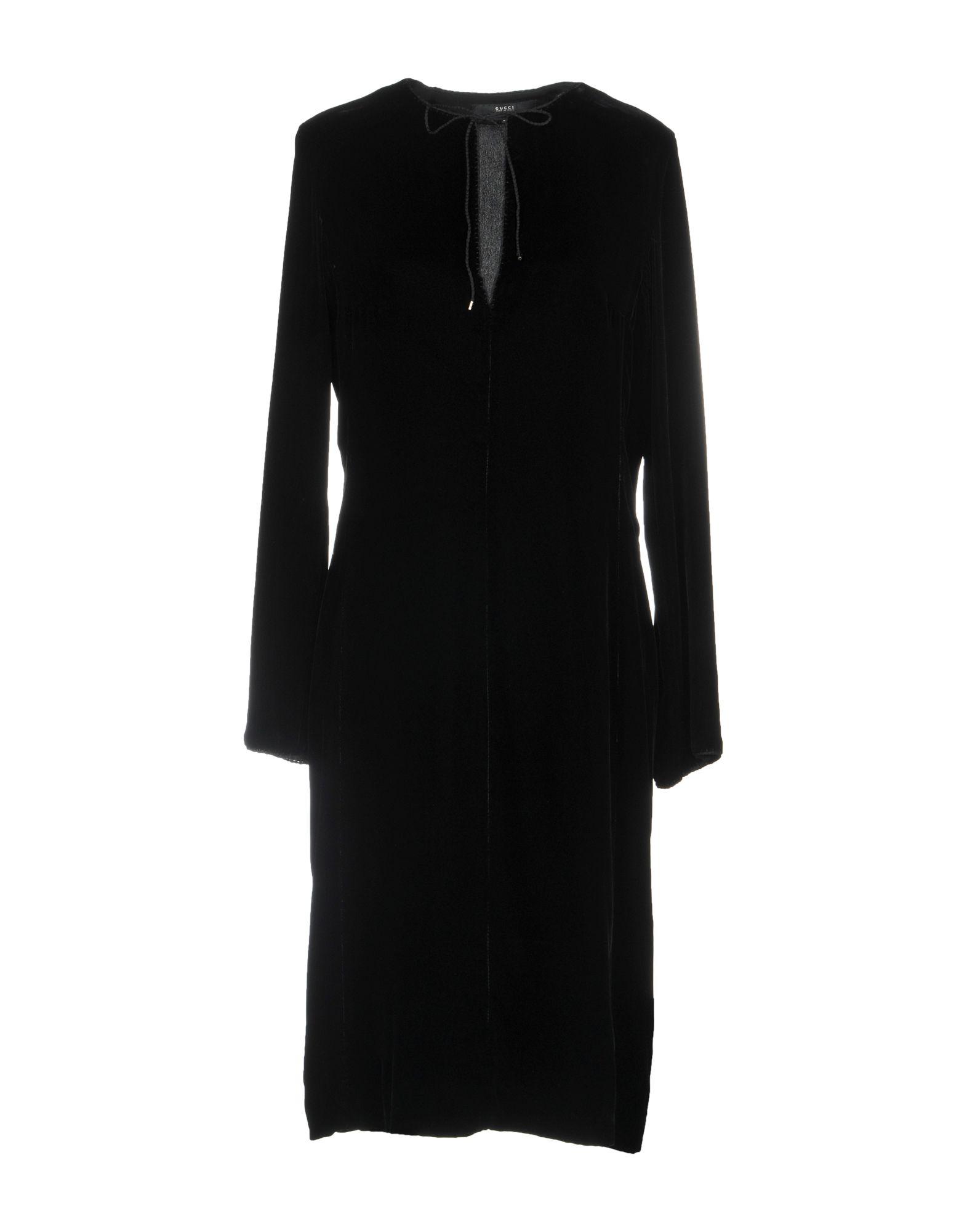 GUCCI Damen Knielanges Kleid Farbe Schwarz Größe 4