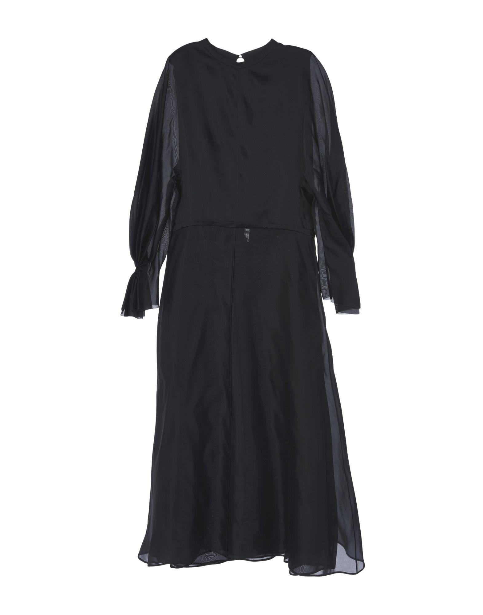 《送料無料》EMILIA WICKSTEAD レディース ロングワンピース&ドレス ブラック 12 シルク 100%