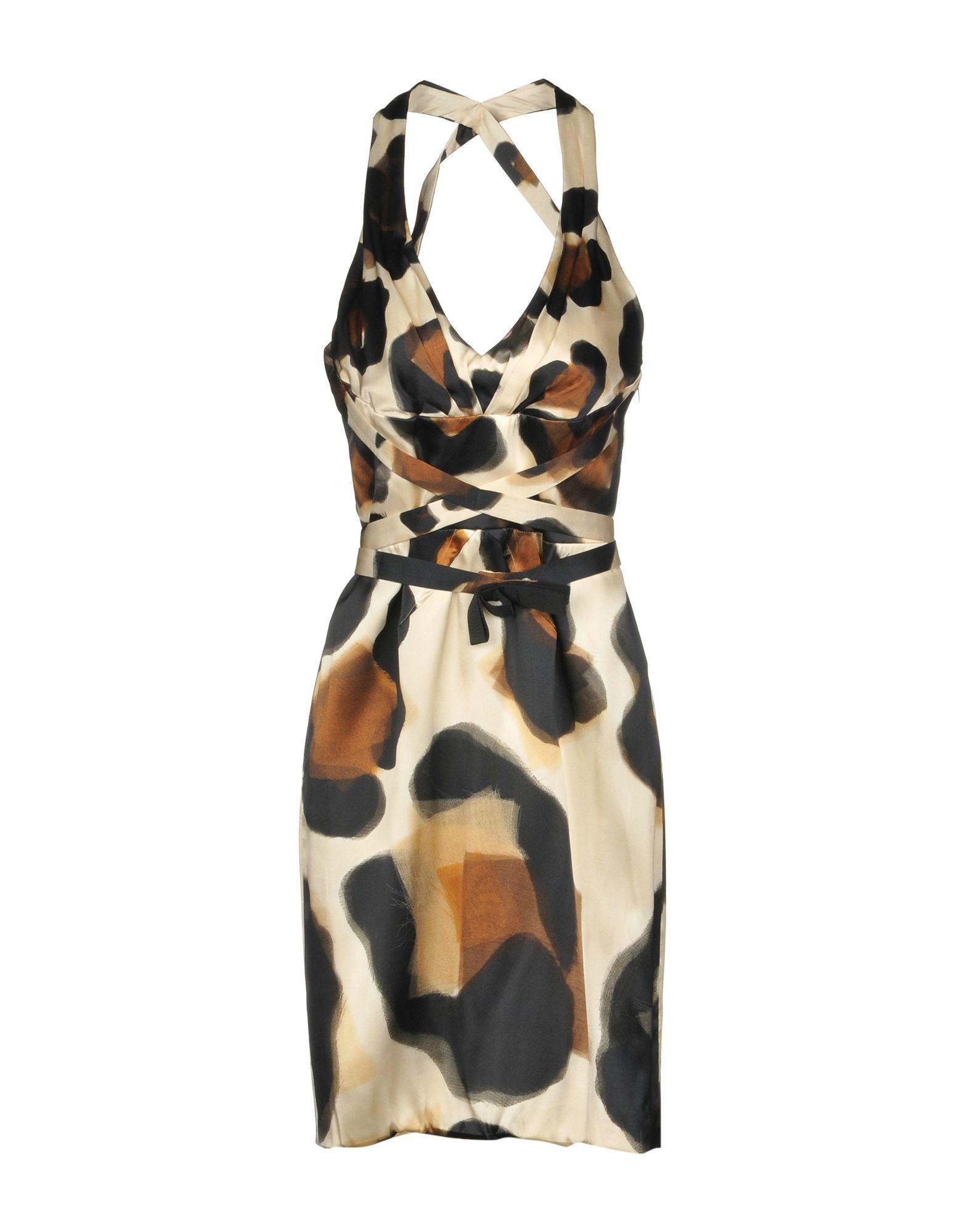 цены на VERSACE Платье до колена в интернет-магазинах