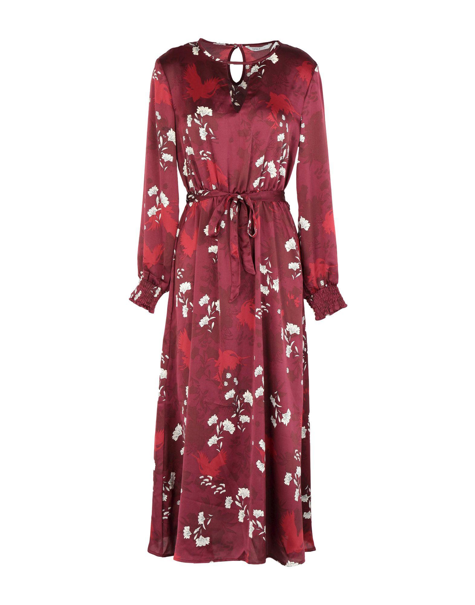 ONLY Damen Knielanges Kleid Farbe Purpur Größe 5