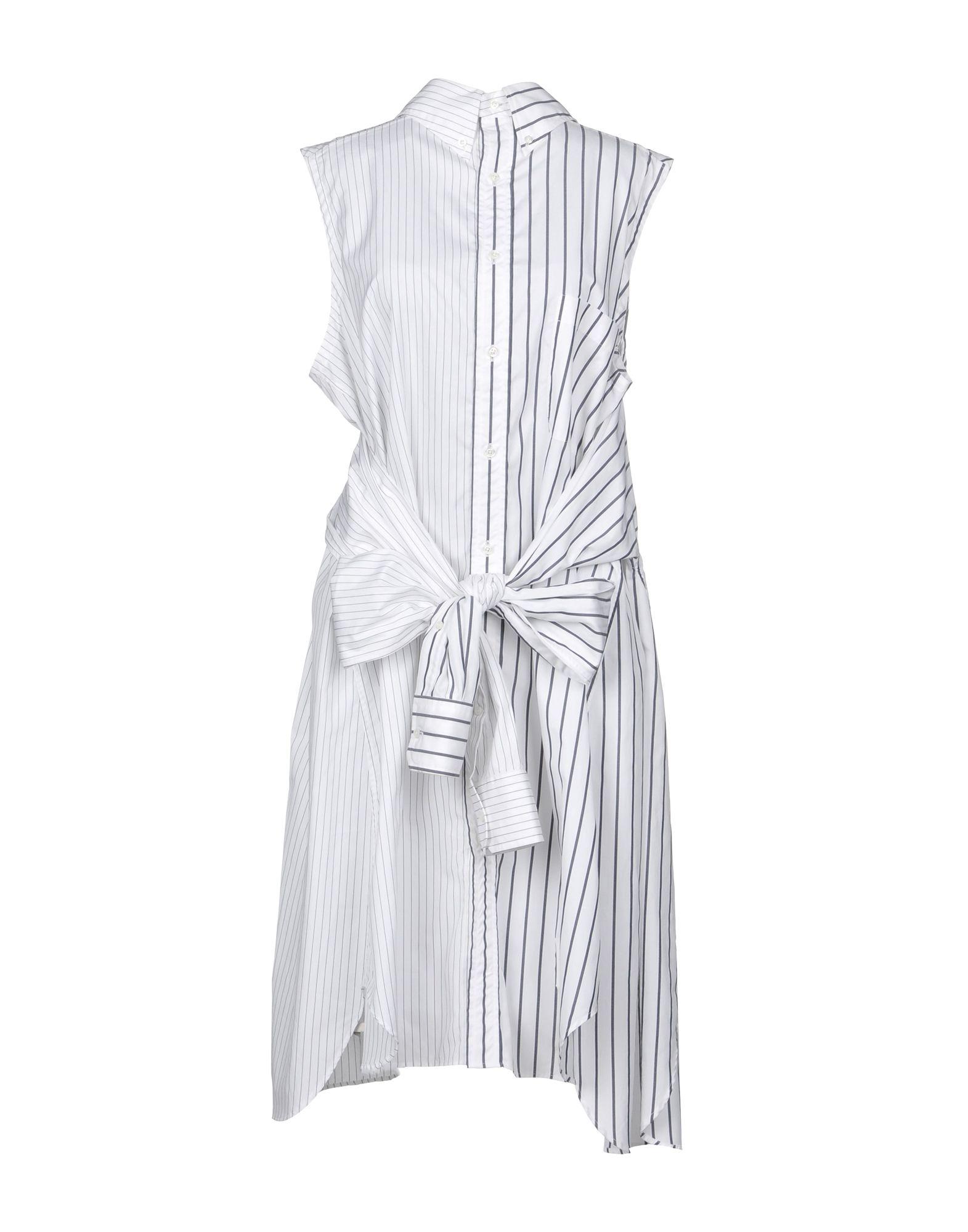 THOM BROWNE Платье длиной 3/4 thom browne топ без рукавов