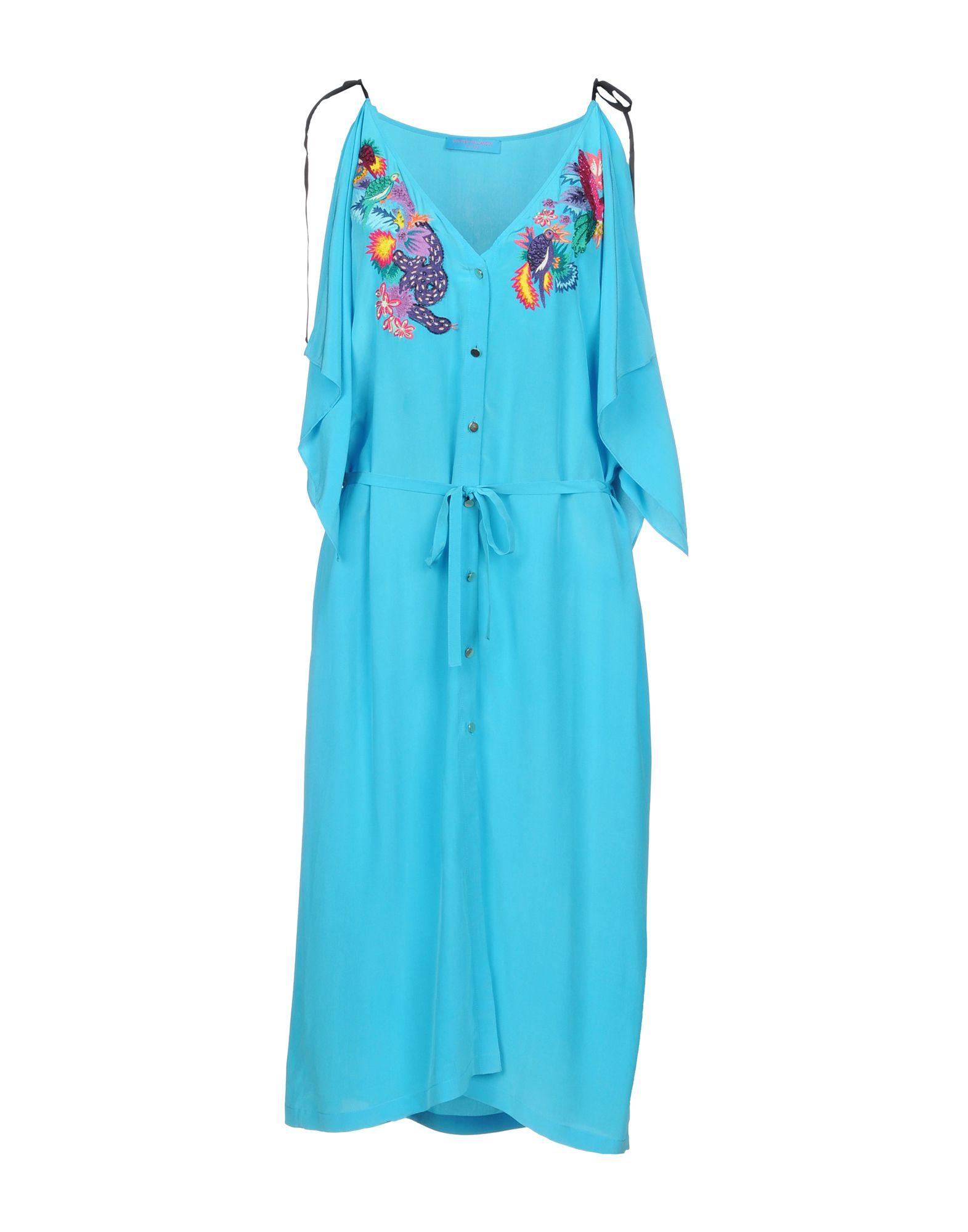 MATTHEW WILLIAMSON Платье до колена длинное платье с принтом matthew williamson длинное платье с принтом