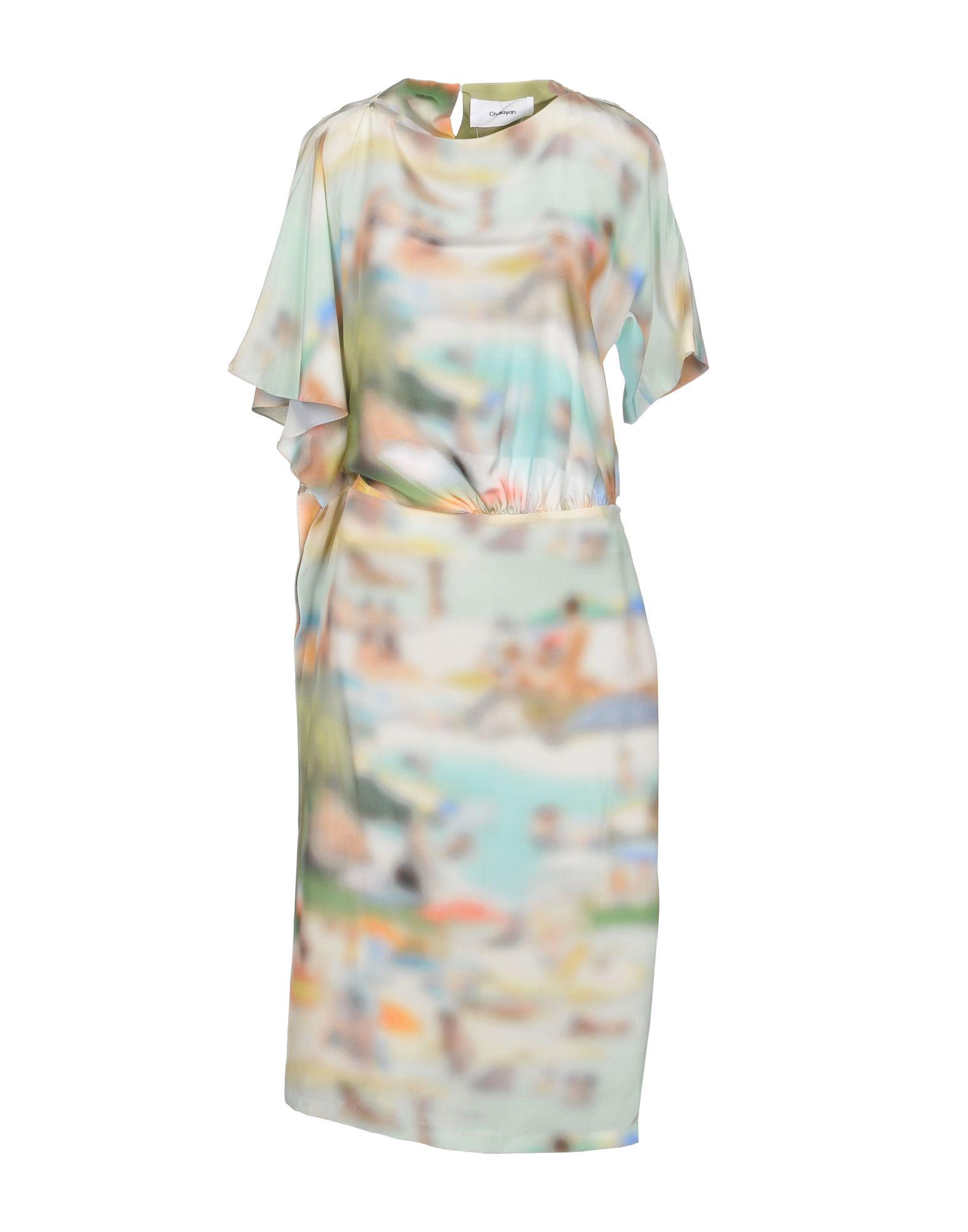 CHALAYAN Платье до колена цена 2017