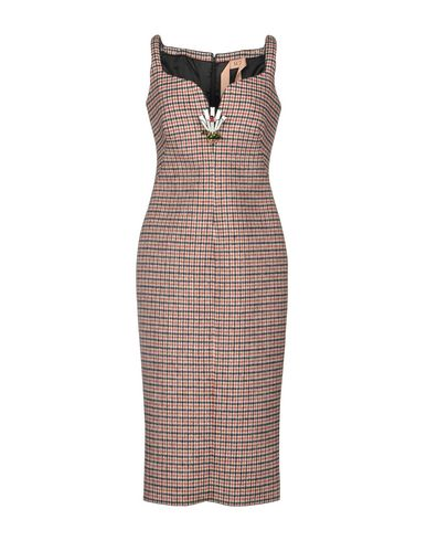 Фото - Платье длиной 3/4 кирпично-красного цвета