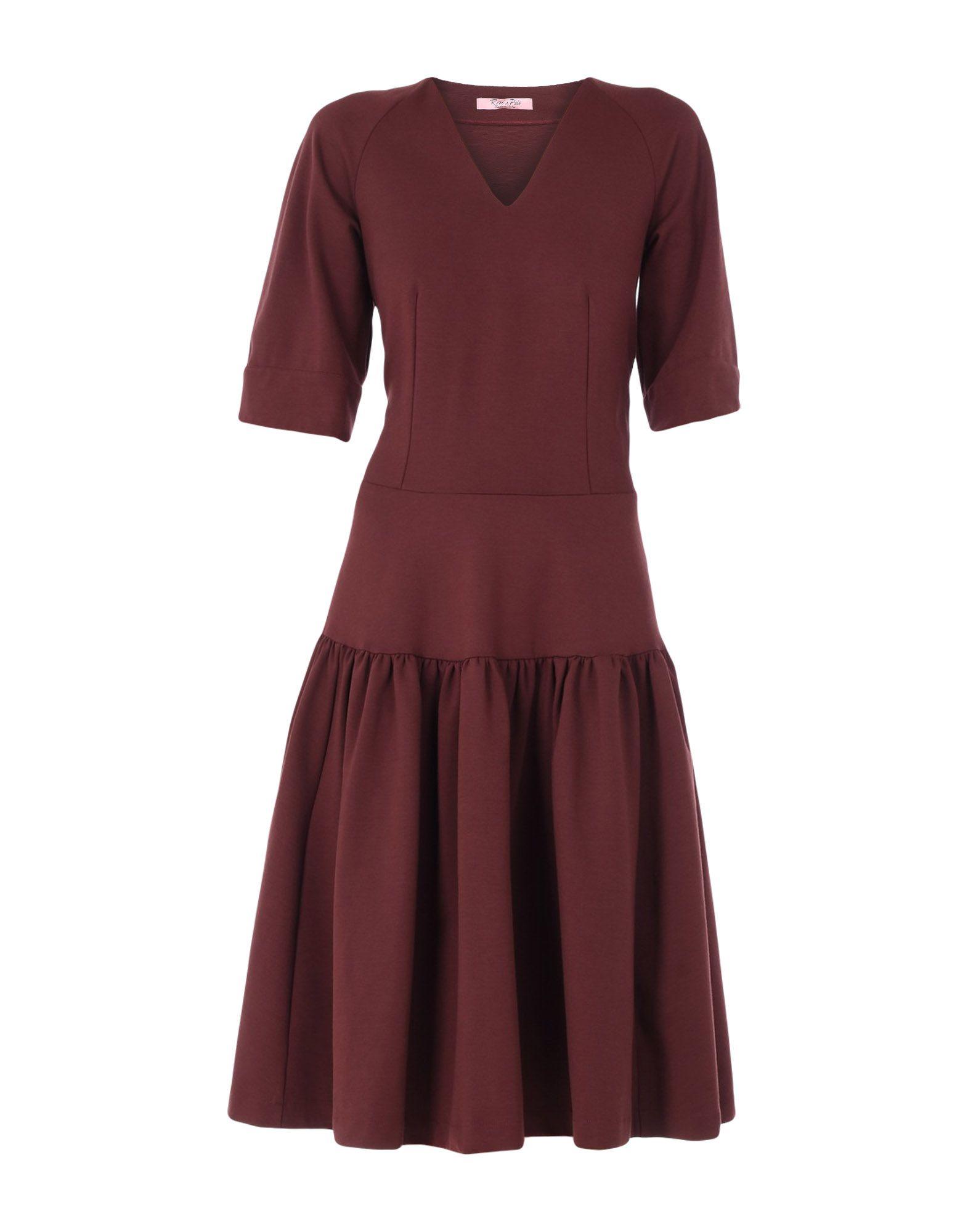 ROSE' A POIS Платье до колена rose a pois юбка длиной 3 4