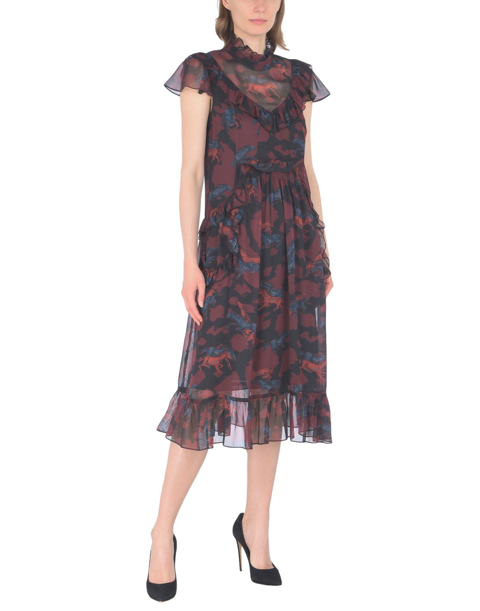 Фото - COACH Платье длиной 3/4 coach короткое платье