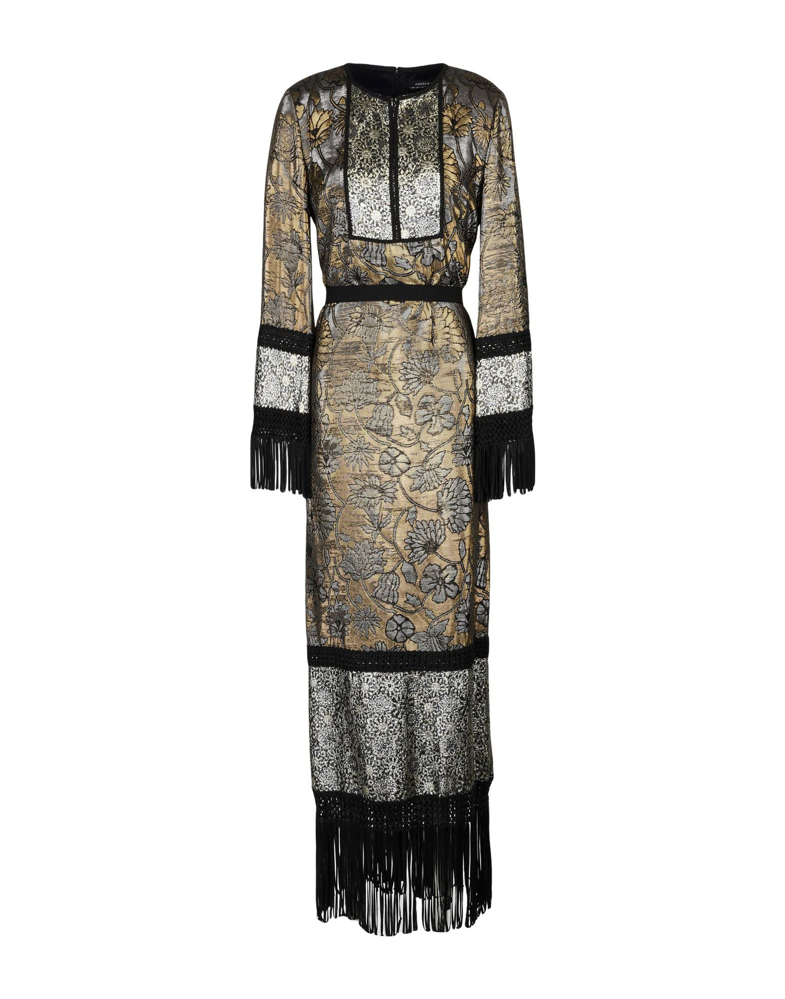 ANDREW GN Long Dress in Gold